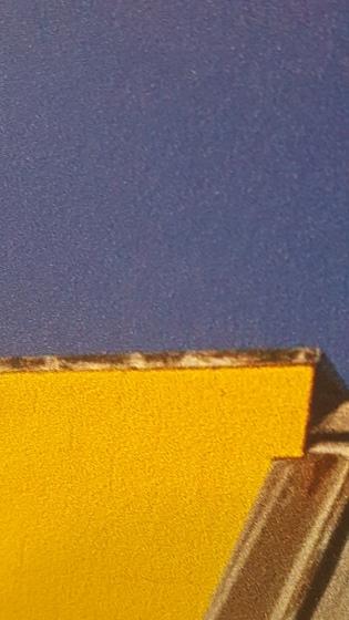 Structuur afdruk op aluminium met witte toplaag
